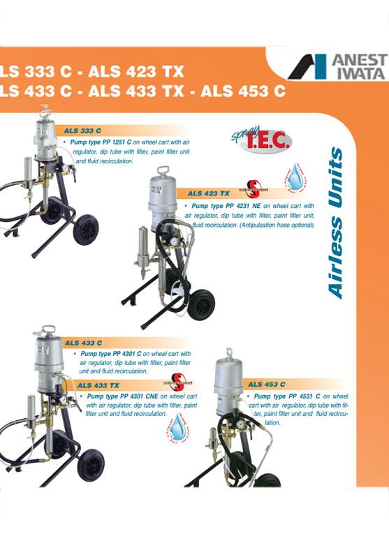 Pompy wysokociśnieniowe Airless i Aircombi ANEST IWATA