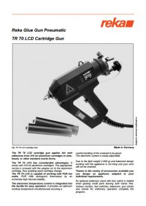 Pistolet REKA TR70 LCD