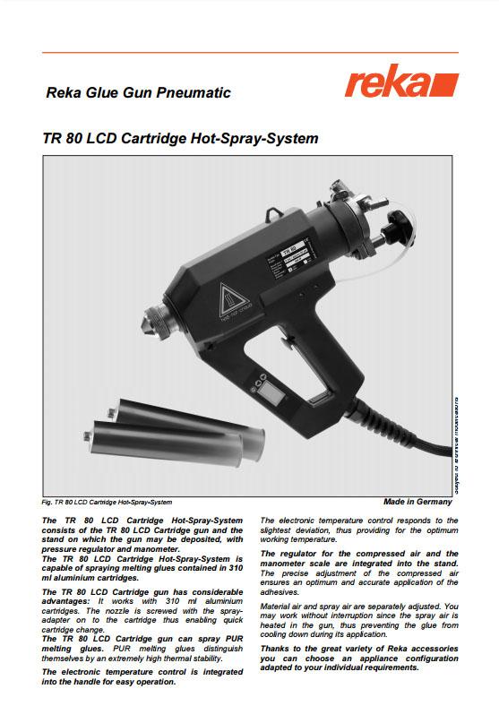 Pistolet REKA TR80 LCD