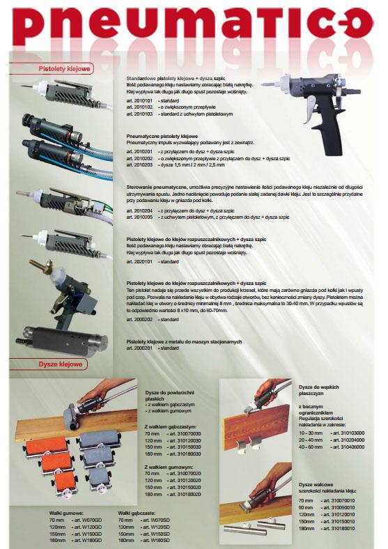 Pistolety do klejenia KMA proste i pistoletowe PNEUMATICO