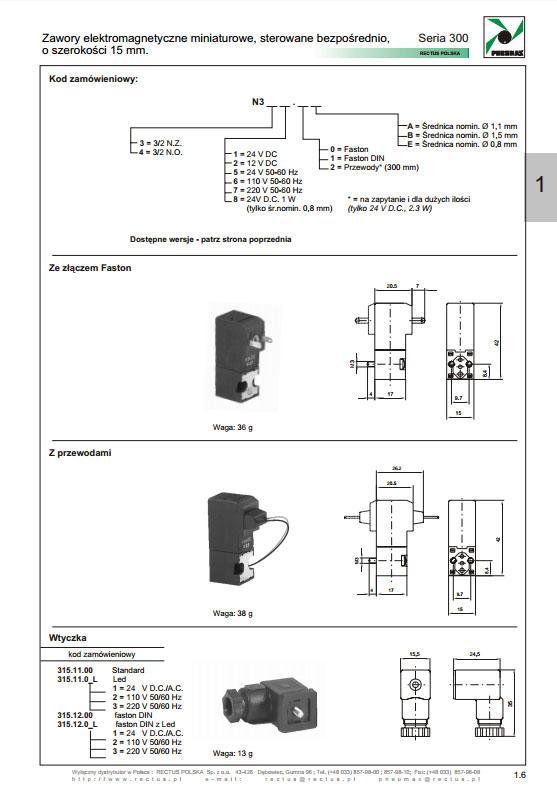 Elektrozawory seria 300_15 mm PNEUMAX
