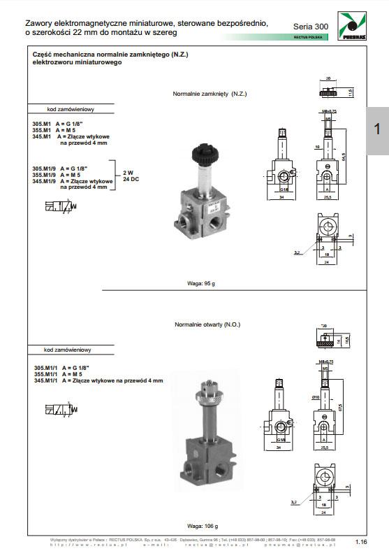 Elektrozawory seria 300_22 mm_szer PNEUMAX