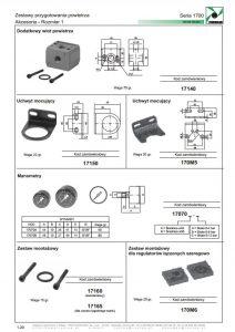 Seria 1700 -1 akcesoria PNEUMAX