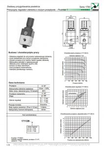 Seria 1700-1 precyzyjny regulator ciśnienia o dużym przepływie PNEUMAX