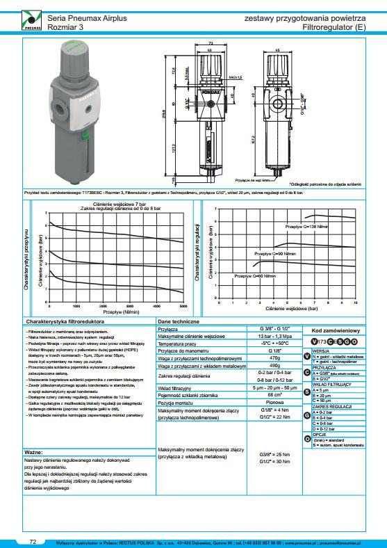Seria Air 3 filtroreduktor PNEUMAX