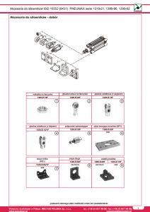 Akcesoria, mocowania - dobór dla serii 1386-88, seria 1396-98 ISO 15552 PNEUMAX