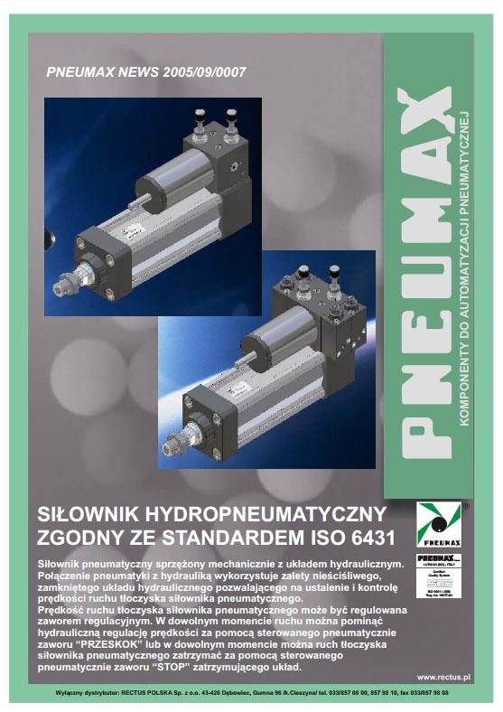 Siłowniki hydropneumatyczne ISO 6431 PNEUMAX