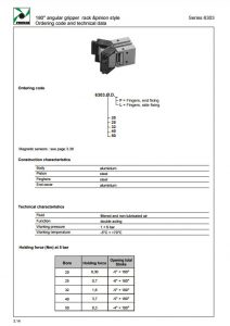 Seria 6303 chwytaki 5 do 180 stopni śr. 50 mm PNEUMAX