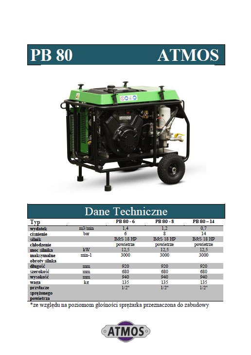 Kompresor ATMOS PB80
