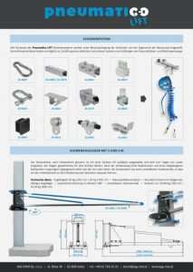 Ulotka Pneumatico Lift (DE)